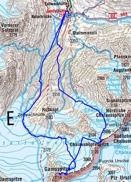 Gamsspitze und Chalausköpfespitze Rundtour