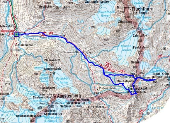 Grenzeckkopf - Breite Krone Rundtour