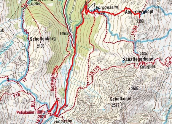 Angerbergkopf (2399 m) von der Potsdamer Hütte