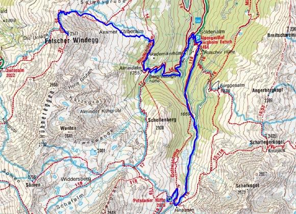 Fotscher Windegg (2577 m) von der Potsdamer Hütte