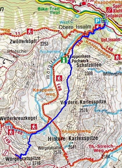 Großes Windegg (2644 m) durch das Wörgetal