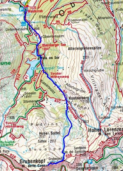 Grubenkopf (2337 m) von Obernberg