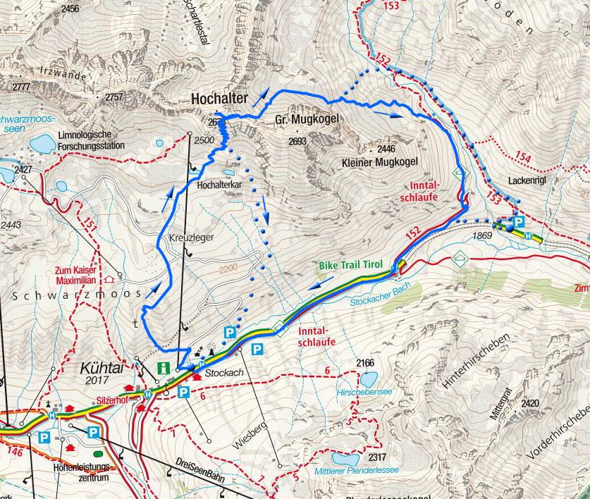 Hochalter-Überschreitung, 2678m - Skitour von Kühtai