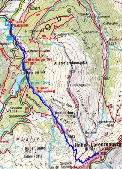 Hoher Lorenzenberg (2313 m) vom Obernberger See