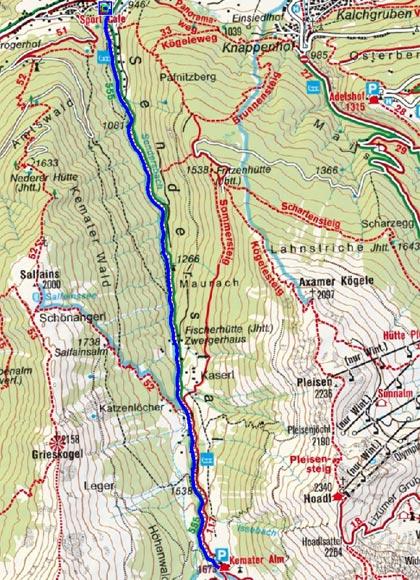 Kemater Alm (1646 m) von Grinzens