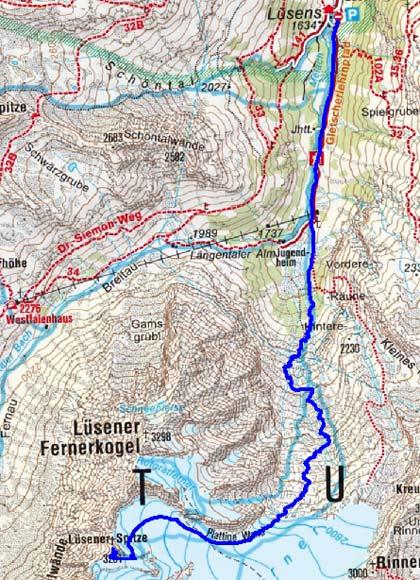 Lüsener Spitze (3231 m) von Lüsens