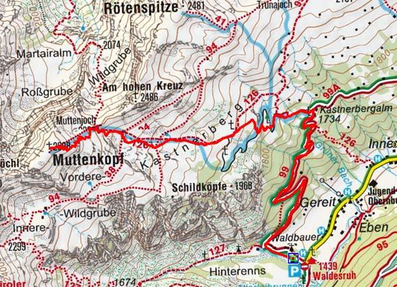Muttenkopf (2638 m) aus dem Obernbergtal