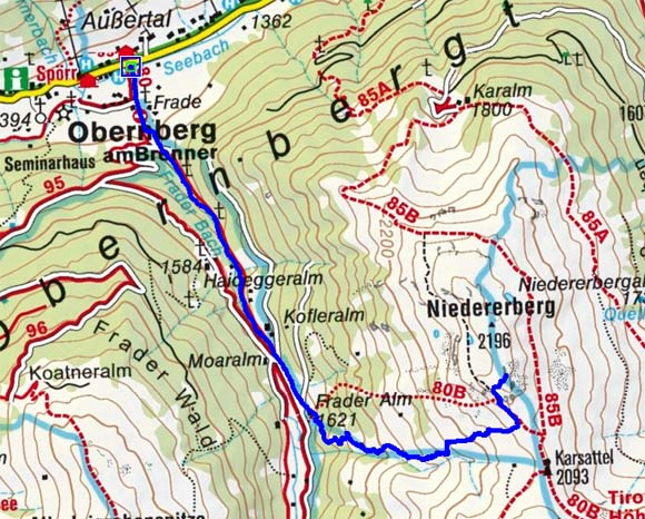 Niedererberg (2196 m) von Obernberg