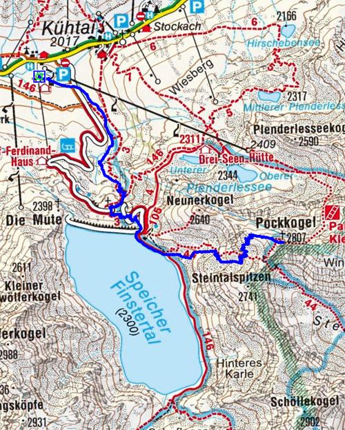 Pockkogel (2807 m) von Kühtai
