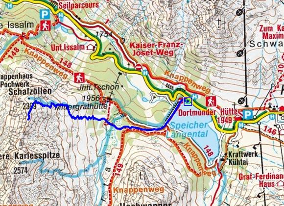 Schafzoll (2426 m) vom Speicher Längental