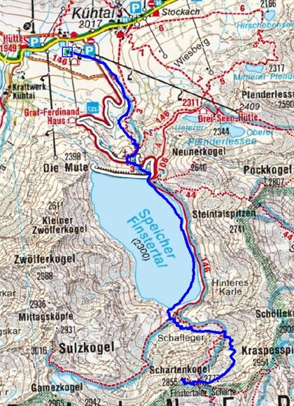 Schartenkogel (2854 m) von Kühtai