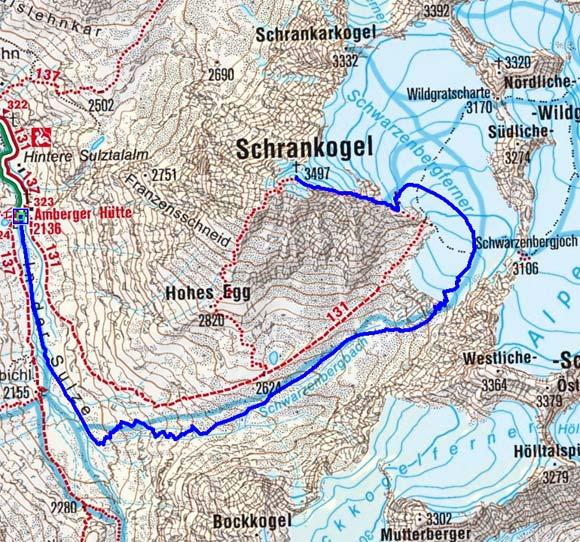 Schrankogel (3497 m) von der Amberger Hütte