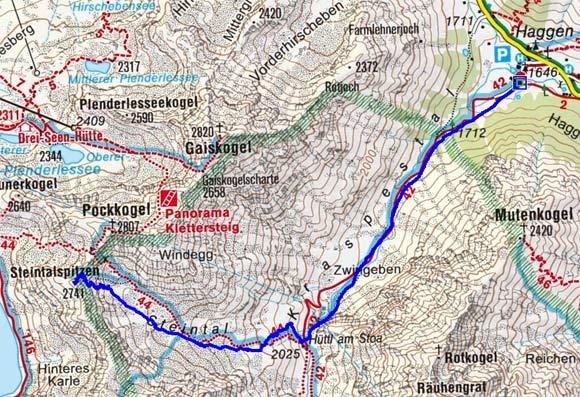 Steintalspitzen (2741 m) von Haggen