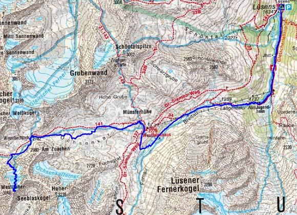 Westlicher Seeblaskogel (3048 m) von Lüsens