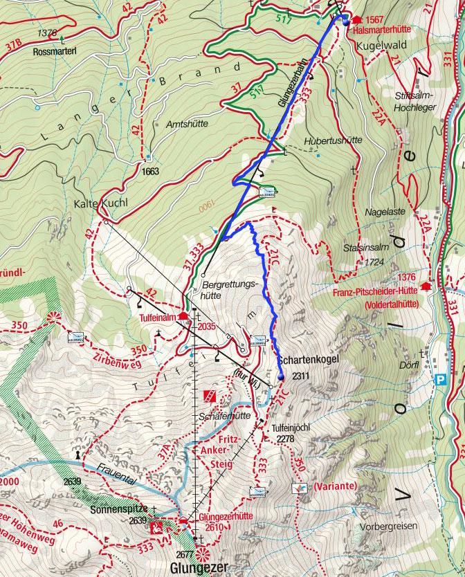 Schartenkogel (2311 m) von Halsmarter - Gelände #21c