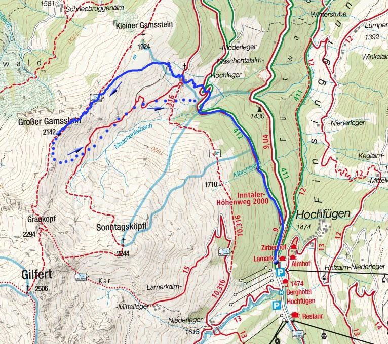 Großer Gamsstein (2142m) von Hochfügen