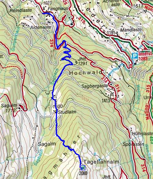 Hillary - Kreuz (2080 m) vom Kolsassberg
