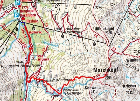 Marchkopf (2499 m) von Hochfügen