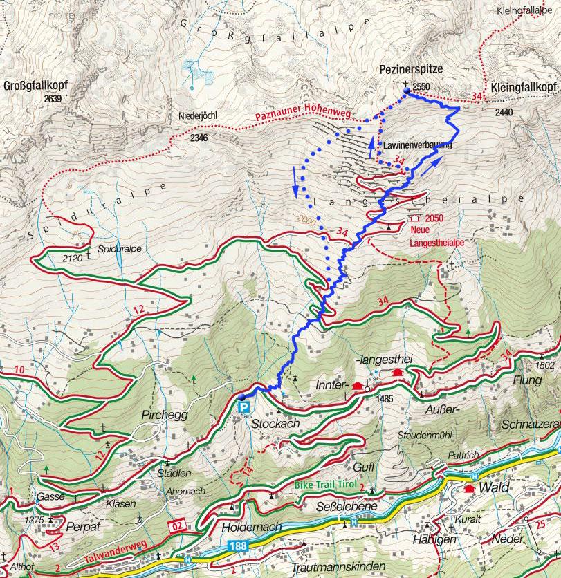 Pezinerspitze (2550m) von Langesthei