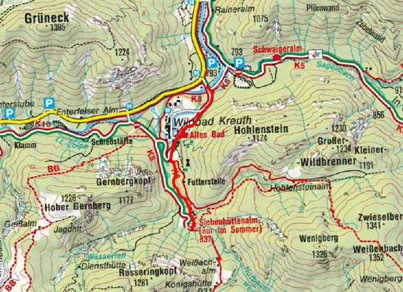 Siebenhüttenalm vom Wildbad Kreuth