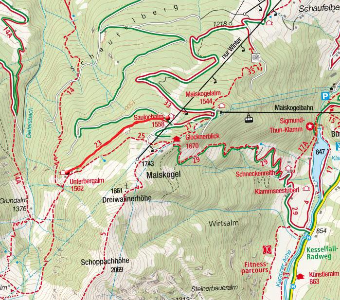 Unterbergalm von der Maiskogelbahn