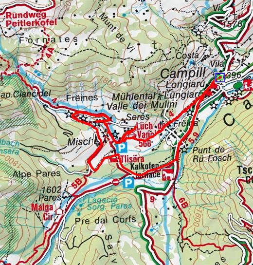 Mühlentalwanderung mit den Weilern Seres und Misci