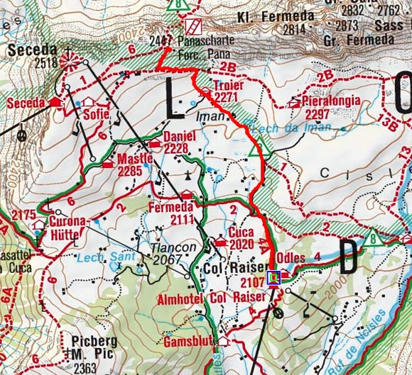 Panascharte von der Col Raiser Bahn