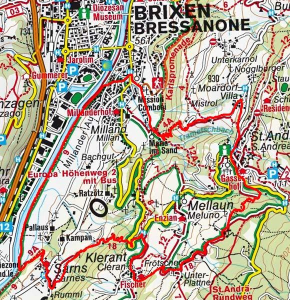 Brixen - St. Andrä - Klerant Rundwanderung