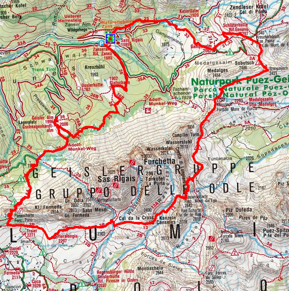 Geislerspitzen-Umrundung aus dem Villnösser Tal
