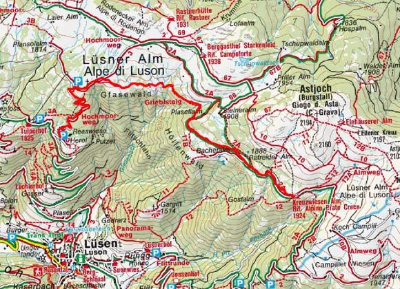 Schutzhütte Kreuzwiesenalm (1924 m) von Herol-Lüsenberg