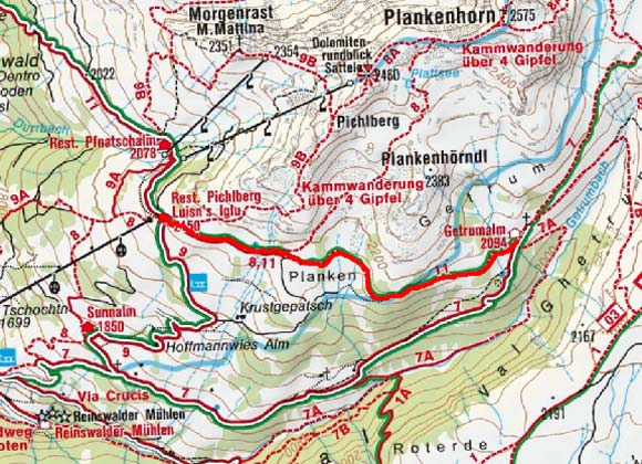 Getrum Alm von der Bergstation Pichlberg