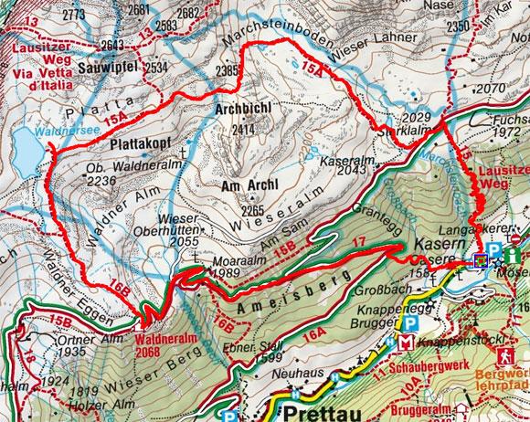 Waldnersee - Wieserwerfermoos Runde vom Berghotel Kasern