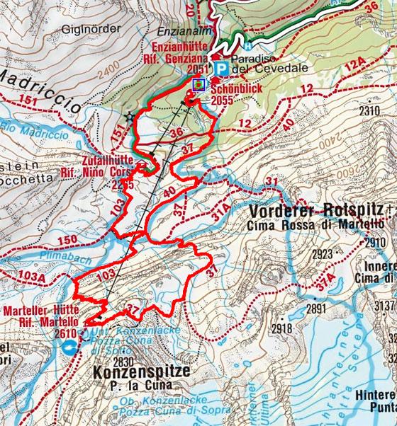 Gletscherlehrpfad Martelltal