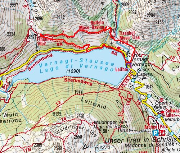 Historische Höfe-Rundwanderung von Vernagt am See