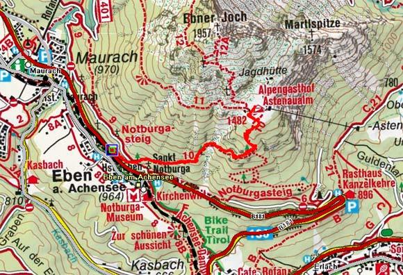 Astenau Alpe (Astenaualm) von Eben