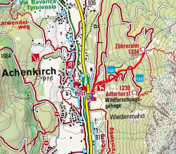 Zöhreralm (1334 m) von Achenkirch