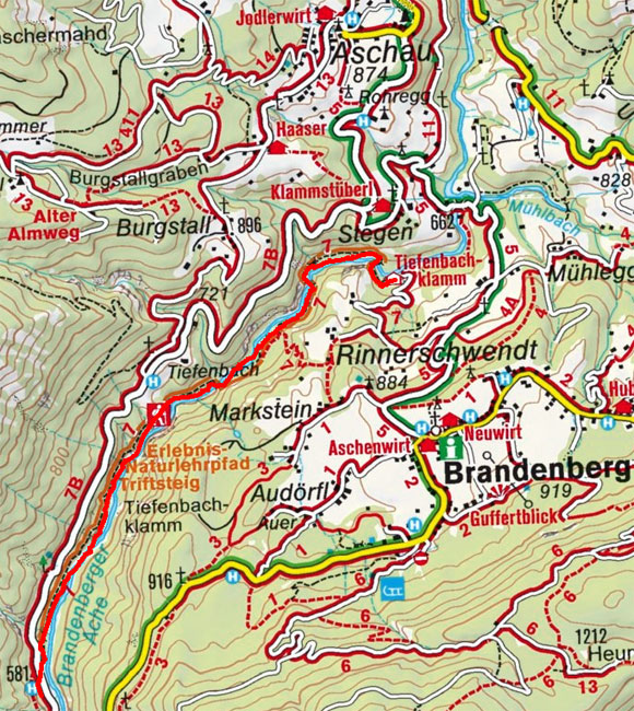 Tiefenbachklamm Wanderung