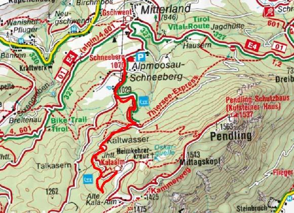 Kalaalm vom Gasthof Schneeberg