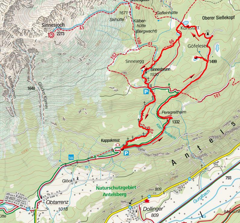 Rundwanderung Göfelesee – Kohlstatt Hochmoor vom Kappakreuz