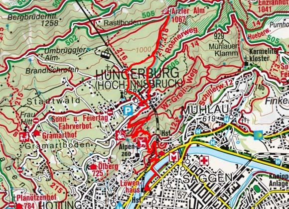 Arzler Alm vom Löwenhaus-Innsbruck