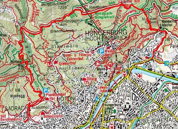 Arzler Alm vom Planötzenhof/Sadrach