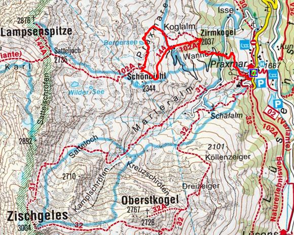 Bergersee - Lampsenhütt'l Rundwanderung
