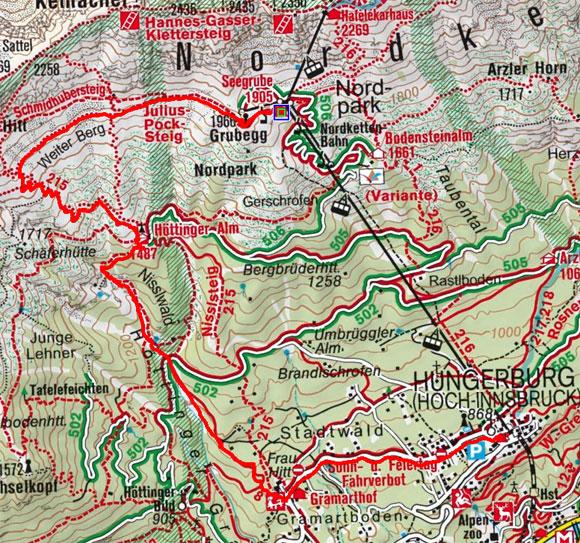 Seegrube - Höttinger Alm - Hungerburg