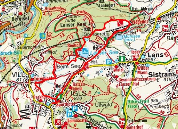 Igls - Vogelhütte Rundwanderung