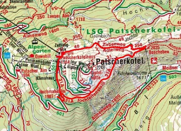 Jochleitensteig - Rundweg am Patscherkofel
