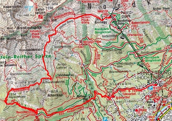 Seegrube - Rauschbrunnen - Hungerburg