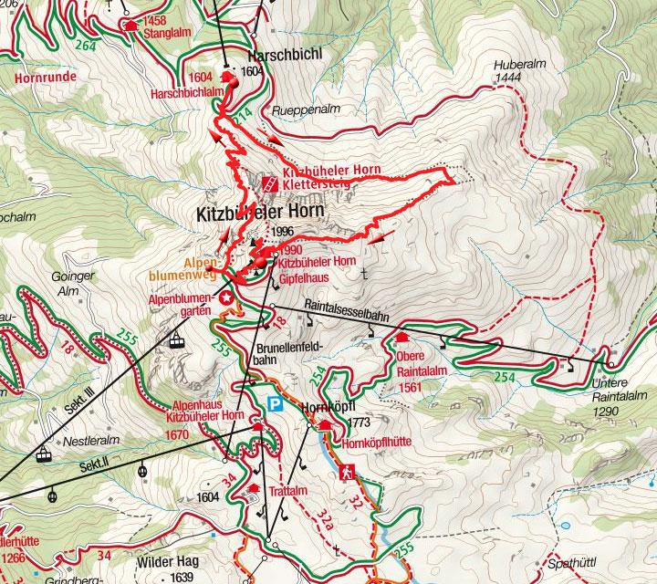 Horn Gipfel-Höhenweg von der Bergstation der Horngipfelbahn