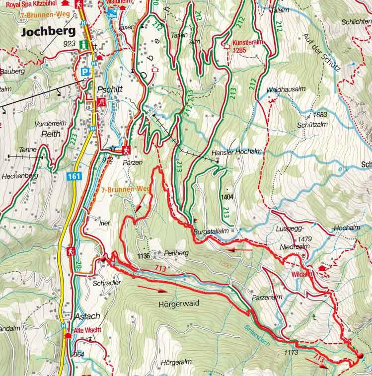 Sintersbach-Wasserfall Rundwanderung bei Jochberg