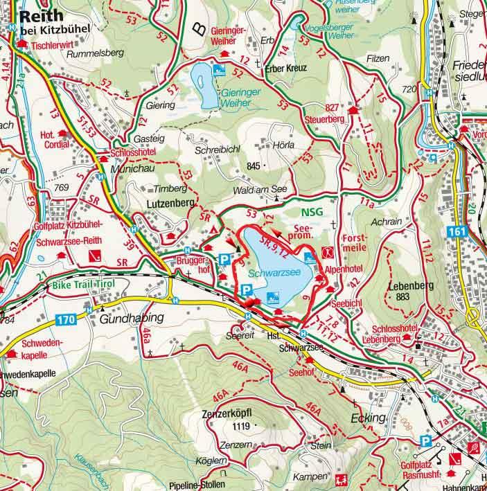 Rund um den Naturbadesee Schwarzsee