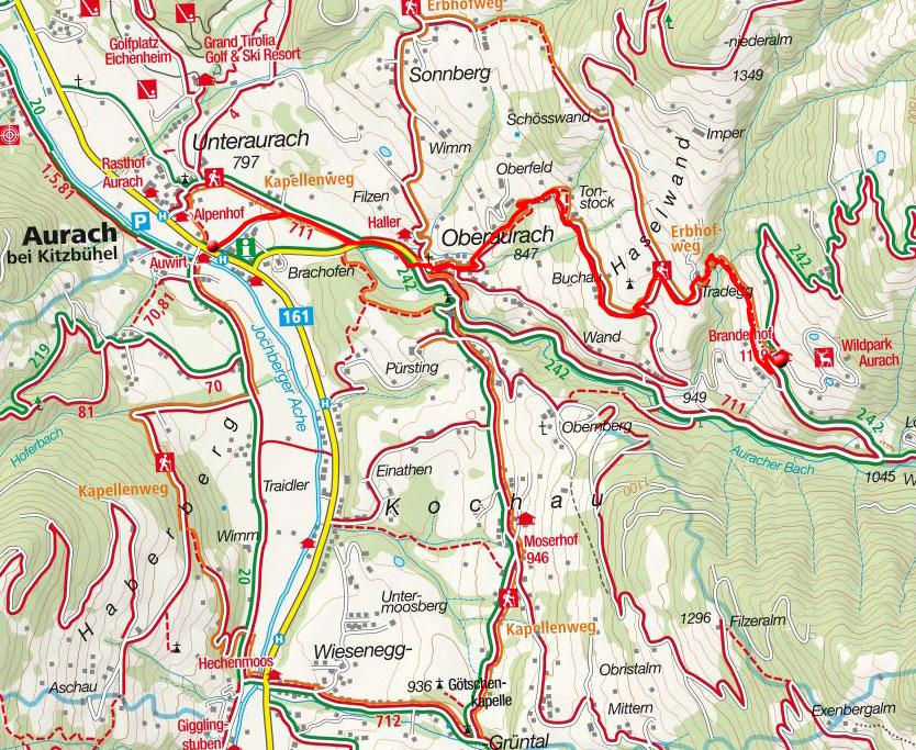 Wildpark Aurach (1119m) von Unteraurach